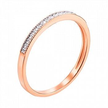 Золотое кольцо в комбинированном цвете с бриллиантами 000113502
