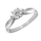 Кольцо из белого золота Катрин с бриллиантами