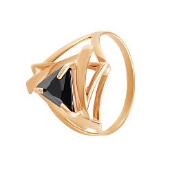 Кольцо из красного золота Триолетте с черным цирконием