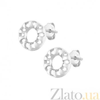 Серебряные сережки Фортуна SLX--С2/382