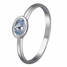 Кольцо в белом золоте Анастасия с голубым топазом