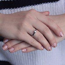Золотое кольцо Единственная в белом цвете с кристаллом Swarovski