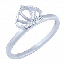 Серебряное кольцо Императрица с фианитами