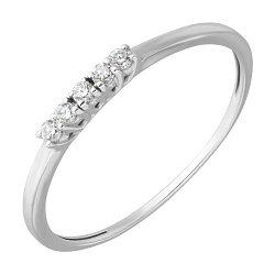 Кольцо из белого золота Путь к успеху с бриллиантами