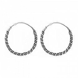 Серьги-кольца из серебра, d 20мм 000024699