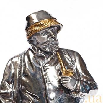Серебрянная статуэтка Охотник и собака 160