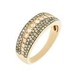 Золотое кольцо с бриллиантами Габриэль