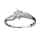 Кольцо для помолвки с бриллиантами Мальвина