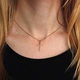 Золотой крестик с бриллиантом Гармоничность