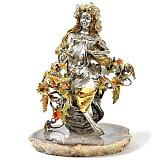 Серебряная композиция Девушка-Осень