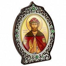 Икона латунная с образом Святого князя Дмитрия Донского