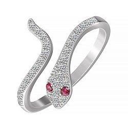 Серебряное кольцо Змейка с фианитами 000053470