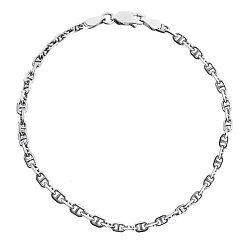 Серебряный браслет с родием, 2,5 мм 000026079
