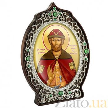 Икона латунная с образом Святого князя Дмитрия Донского 2.78.0920л