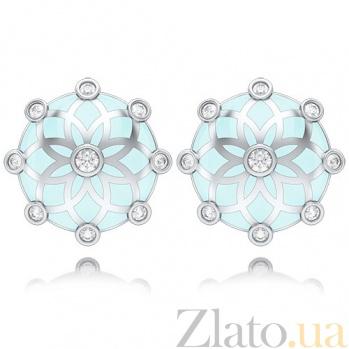 Серьги с бриллиантами Восторг: Шелковый Ветер 4433