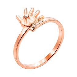 Кольцо в красном золоте с фианитами 000119341