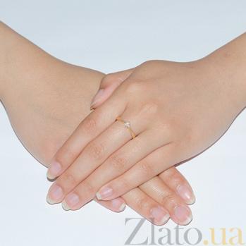 Кольцо из желтого золота с бриллиантом Признание R 0087/жёлт