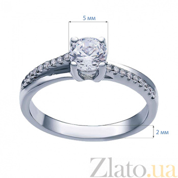 Серебряное кольцо на помолвку Грация AQA--R0311