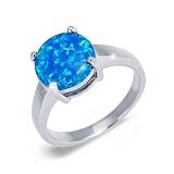 Серебряное кольцо с голубым опалом