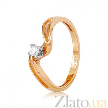 Золотое кольцо с бриллиантом Эмина EDM--КД7547