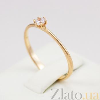 Кольцо из красного золота с фианитом Ориана VLN--212-1711