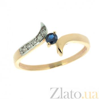 Золотое кольцо с сапфиром и бриллиантами Кристианна ZMX--RS-6274_K
