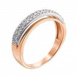Золотое кольцо в комбинированном цвете Дарина с бриллиантами