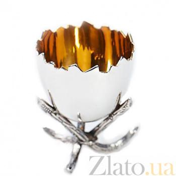 Серебряная подставка под яйцо Скорлупа 452