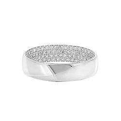 Золотое кольцо с бриллиантами Белая ночь