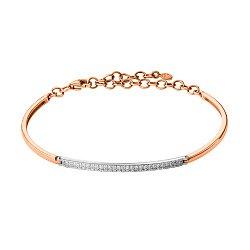 Золотой браслет в комбинированном цвете с бриллиантами 000139811