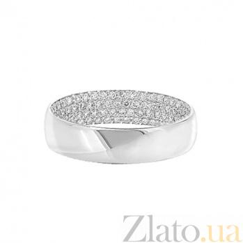 Золотое кольцо с бриллиантами Белая ночь 000029636