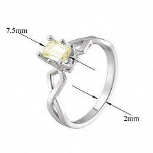 Кольцо в белом золоте Артемида с бриллиантом