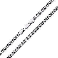 Серебряная черненая цепь, 6мм 000079918