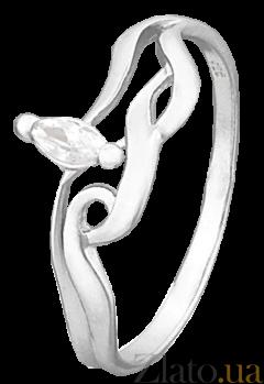 Серебряное кольцо с цирконием Бриджида 000025791