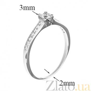 Кольцо из белого золота с бриллиантами  Ami R0678/бел
