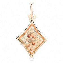 Ладанка из золота Богородица Владимирская