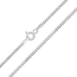Серебряная цепь с родированием, 1мм 000026191