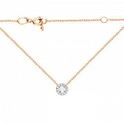 Золотое колье Даяна в комбинированном цвете с бриллиантами