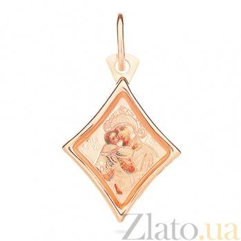 Ладанка из золота Богородица Владимирская SUF--422107