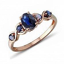 Кольцо в красном золоте Грейс с сапфиром