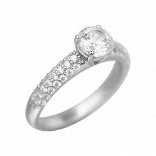 Серебряное кольцо Мартина с фианитами