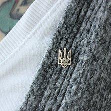 Золотой значок Трезубец с винтовой застежкой