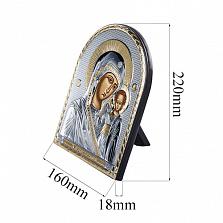 Серебряная Икона Матерь Божья с позолотой