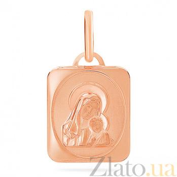Ладанка из красного золота Иконка Богородицы SUF--421324л