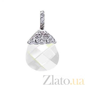 Кулон серебряный с кристаллом Сваровски AQA--S238550326