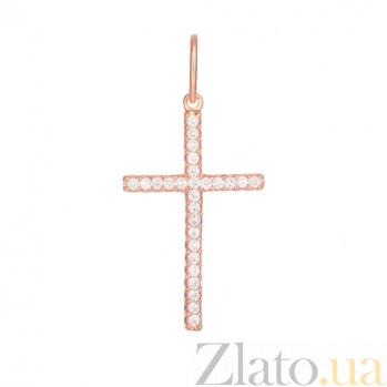 Серебряный крестик с фианитами Ренессанс 000028691