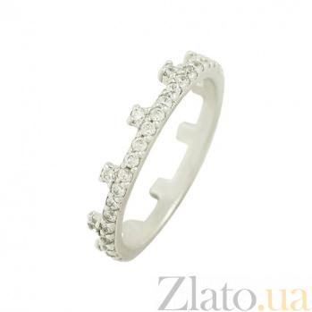 Золотое кольцо с фианитами Королева 2К220-0249