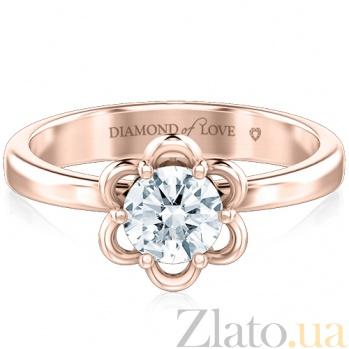 Кольцо Восторг: Там за облаками из розового золота 5767