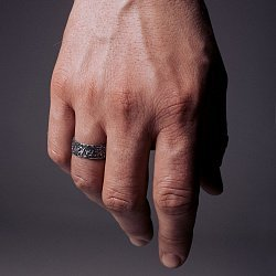 Кольцо из серебра Frivolity с чернением 000091403