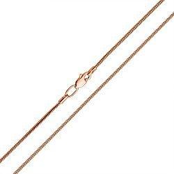 Цепочка из красного золота в плетении снейк, 1,2мм 000122234